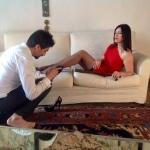 """Cosimo Picaro, foto di Ariele scattate durante il video di """"Ma vie Je T'aime"""" (2014)."""