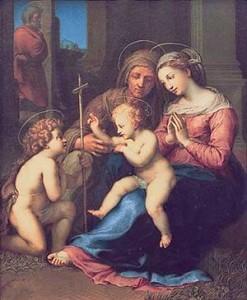 Madonna del Divino Amore, Raffaello Sanzio (1516 circa) olio su tavola 140x109cm, Museo nazionale di Capodimonte, Napoli.