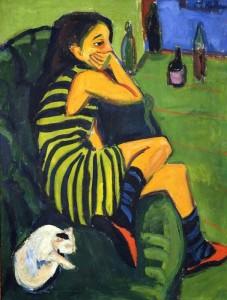 Kirchner 'Artista-Marcella' (1910).