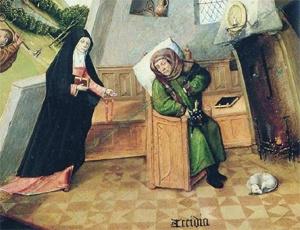 Dialogo tra Petrarca e Sant'Agostino: l'accidia