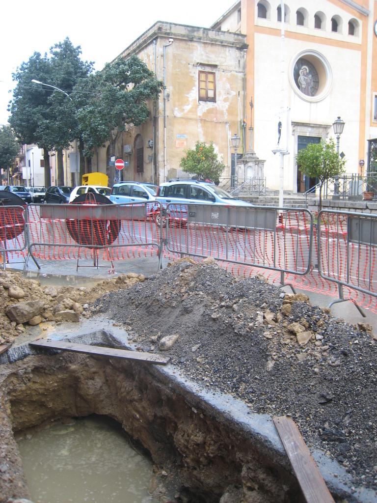 Veduta scavi, foto concessa dalla Soprintendenza BB.CC.AA. di Palermo.