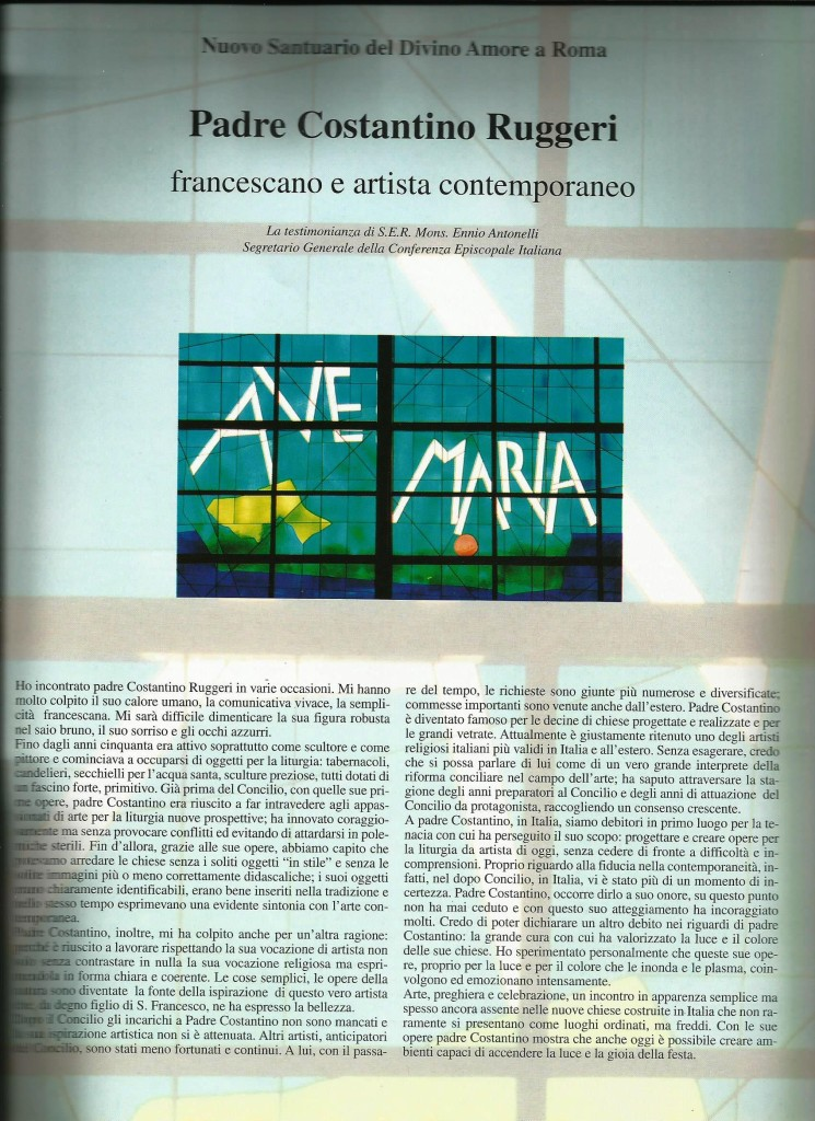 «Chiesa oggi, architettura e comunicazione», Di Baio Editore, n. 35/1999, pg. 33.