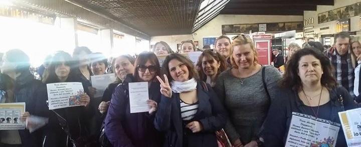 La marcia dei precari a Firenze