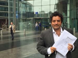 Prof. Marcello Pacifico, presidente del sindacato Anief in foto a Bruxelles