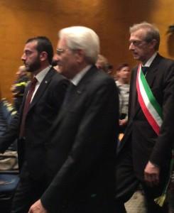 Torino, XXVIII Salone Internazionale del libro, 14/05/2015, il Presidente della Repubblica Sergio Mattarella e il sindaco di Torino, Piero Fassino. Foto di ©Tiziana Mazzaglia