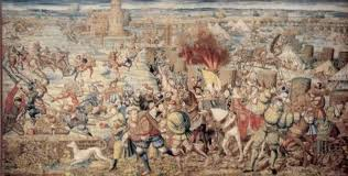 Arazzo della Battaglia di Pavia, 525x266 cm, Museo di Capodimonte, attualmente esposto a Pavia, presso i Musei Civici