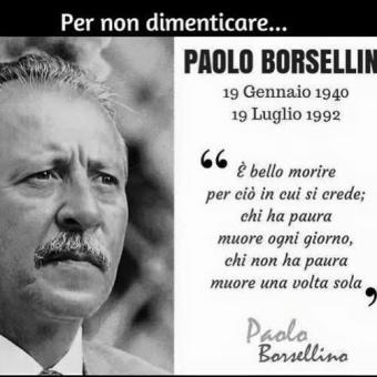 Paolo Borsellino: 19 Gennaio 1940 – 19 Luglio1992