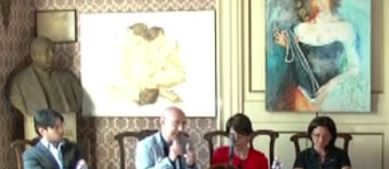 In foto da sx a dx: Marco Lipera, Carlo Monteleone, Laura Freni, Luana Iudica.