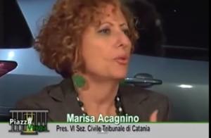 Magistrato Marisa Acagnino.