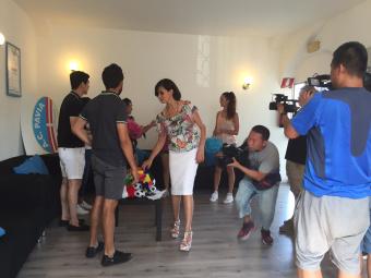 Una giornata sul set con Maria Grazia Cucinotta