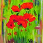 In foro un quadro realizzato in olio su tela da Myriam Collini Maraziti.