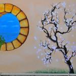 In foto un quadro realizzato in olio su tela da Myriam Collini Maraziti.