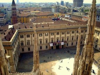 Giotto: Milano, palazzo Reale, Polittico Stefaneschi e altro