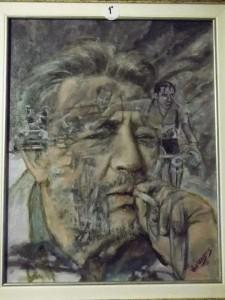 Sogni di Gianni Brera, di Ariedo Lorenzone, olio su tela, 50x60cm, 2012.