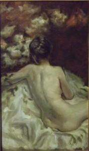 Omaggio a De Nittis, Ariedo Lorenzone, olio su tela 40x60cm, 2012.