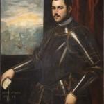 Bottega di Domenico Tintoretto, Ritratto di ammiraglio veneziano, olio su tela, cm 110×89.