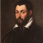 Cerchia di Jacopo Tintoretto, Ritratto maschile, olio su tela, cm 54×44.