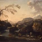 Hans de Jode, Paesaggio, olio su tela, cm 70×99.