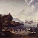 Hans de Jode, Porto di mare, olio su tela, cm 70×99.