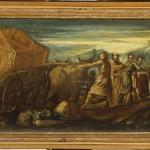 Jacopo Tintoretto, Trasporto dell'arca dell'alleanza, olio su tavola, cm 28×80.