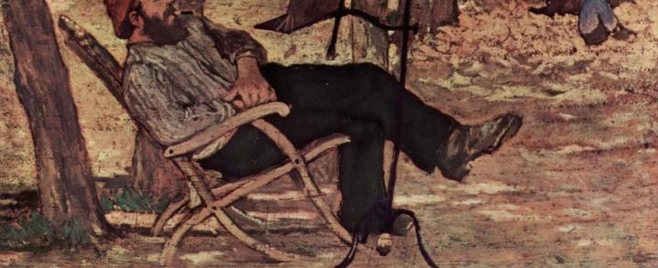 Giovanni Fattori ritrae Diego Martelli a Castiglioncello e Silvestro Lega, Un dopo pranzo (o pergolato)